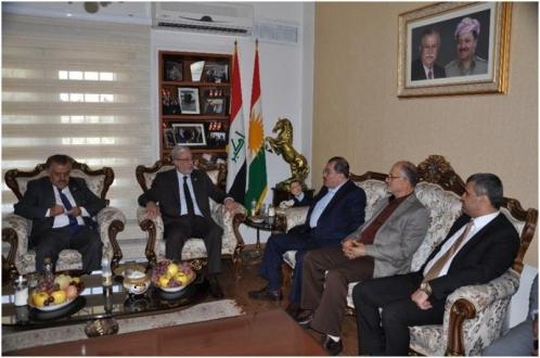 د.بشير حداد نائب رئيس مجلس النواب العراقي يزور ممثلية حكومة أقليم كوردستان في طهران .